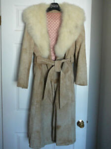 Woman's Arctic Fox Suede Trench (valued at $1200...asking $175)