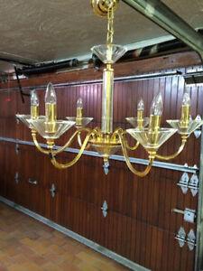 LAMPADAIRE ITALIEN PLAQUE OR