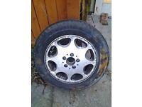 mercedes e320 singe alloy wheel