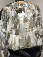 NEW GUESS RABBIT FUR JACKET BY MARCIANO