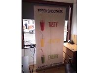 Smoothie Signs ForSale Large Pop Up Lightweight Easy Carry Signs Sold Very Good Condition 2 Signs 2