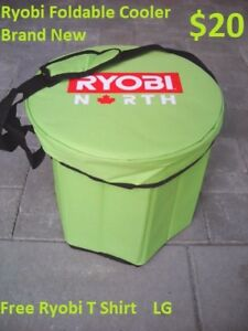 Ryobi collapsible cooler with T shirt **** Brand New ****