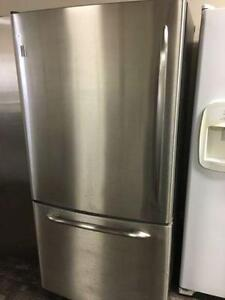 GE Profile Bottom freezer stainless - can deliver