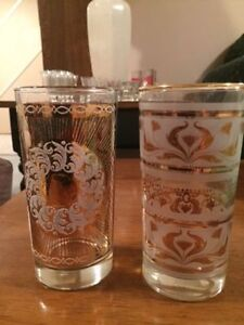 Unique Gold decorated glasses - from the 70's... Kitchener / Waterloo Kitchener Area image 1