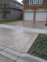 Stamped Concrete Overlay, Sealing, Parging, Porch Restorations