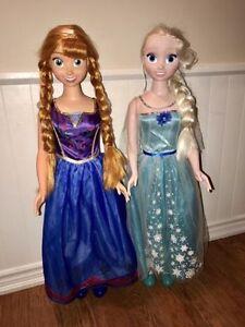Elsa Anna Frozen Dolls My Size 3 FT