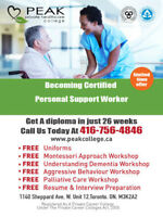YOU CAN DO IT !!  Becoming a PSW