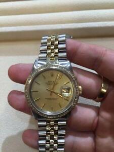 Rolex datejust 18k gold 2 tone