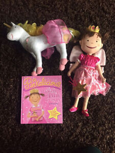 Pinkalicious Lot - Book Treasury, Doll and Goldilicious