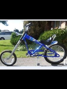 Blue ironhorse chopper bike