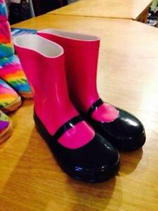 New! Trumpette Mary Jane Rubber Boots 8/9