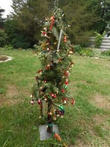 DECORATED CHRISTMAS TREE WITH LIGHTS for sale
