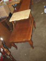 French Provincial Side Table with marble top