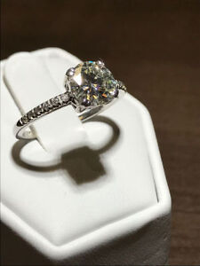 BIG LOOK 1.47TCW SI-1 DIAMOND ENGAGEMENT RING ON SALE NOW !