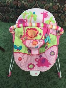 Pink Infant Vibrating Bouncy Chair