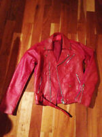 Red Leather Jacket size 36