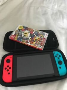 Nintendo Switch - Neon - Case - Game - Glass Protector