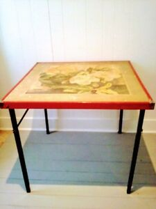 RARE Mid C. CARD Table Antique Vintage