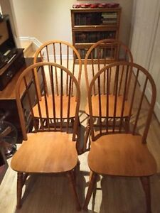 Four Solid Maple Roxton Chairs