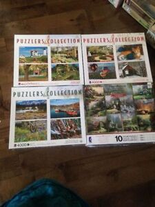 4 sets of puzzles at 1000 pieces each