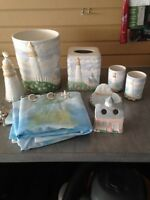 Lighthouse bathroom set