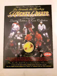 1996-97 Hockey Greats limited edition silver coins set