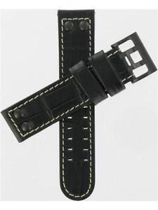 HAMILTON Original Replacement 22mm black leather H600.647.100