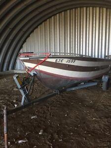 18' aluminum boat with trailer