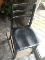 Antique Henderson wood chair