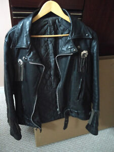 Women's Leather Jacket and Pants Set