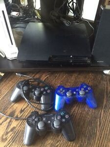 PS3, contollers, and game bundle