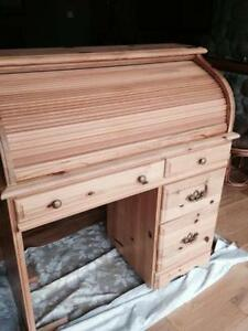 Wooden rolltop secretary desk study table Brand new Assembled
