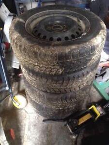 195 65 15R  Winter Tires On Rims