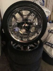 "FOR SALE Poni 18"" Chrome Rims & Tires"