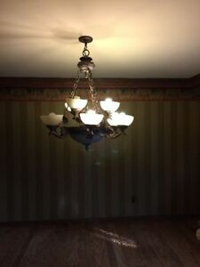 Beautiful BIG Rustic Vintage Chandelier Windsor Region Ontario image 2
