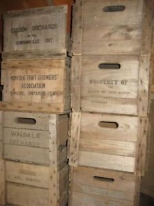 Antique Vintage Wooden Crates
