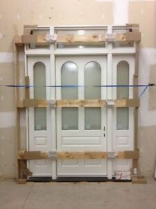CLEARANCE Massive Solid Wood Door /w transom 42x96 Slab