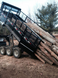 Firewood logs hardwood approx 8' lengths (approx1/2 tandem load)