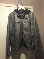 MEN'S FAUX LEATHER JACKET BY GUESS