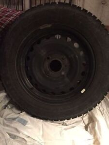 new set of Tires and rim size  205/60/15  the rims is 4 bolt London Ontario image 2