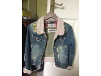 Distressed Denim Soul Cal Jacket, Size 10
