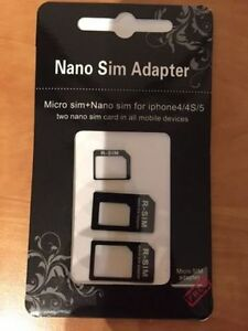 Sim Card Adapter Brand New Retail Package!!