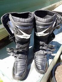 AXO MX One Boots Black & White US size 10 WORN ONCE