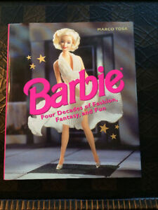 """""""Barbie"""" Four Decades (1997) - Large Hardcover - Like New"""