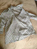 Old Navy Pinstripe Maternity Blouses LARGE