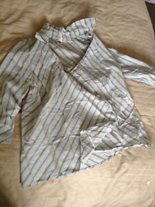 Old Navy Pinstripe Maternity Blouses LARGE London Ontario image 1
