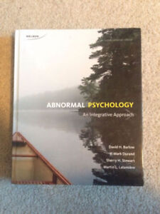 ABNORMAL PSYCHOLOGY TEXT & MINDTAP PROGRAM FROM RED DEER COLLEGE