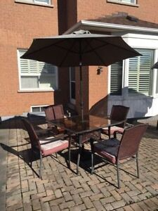 Moving Sale - Metal & Tinted Glass Patio Set