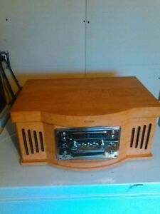 Curtis wood stereo system