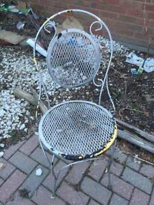 ***** Pair Wrought Iron Chairs *****